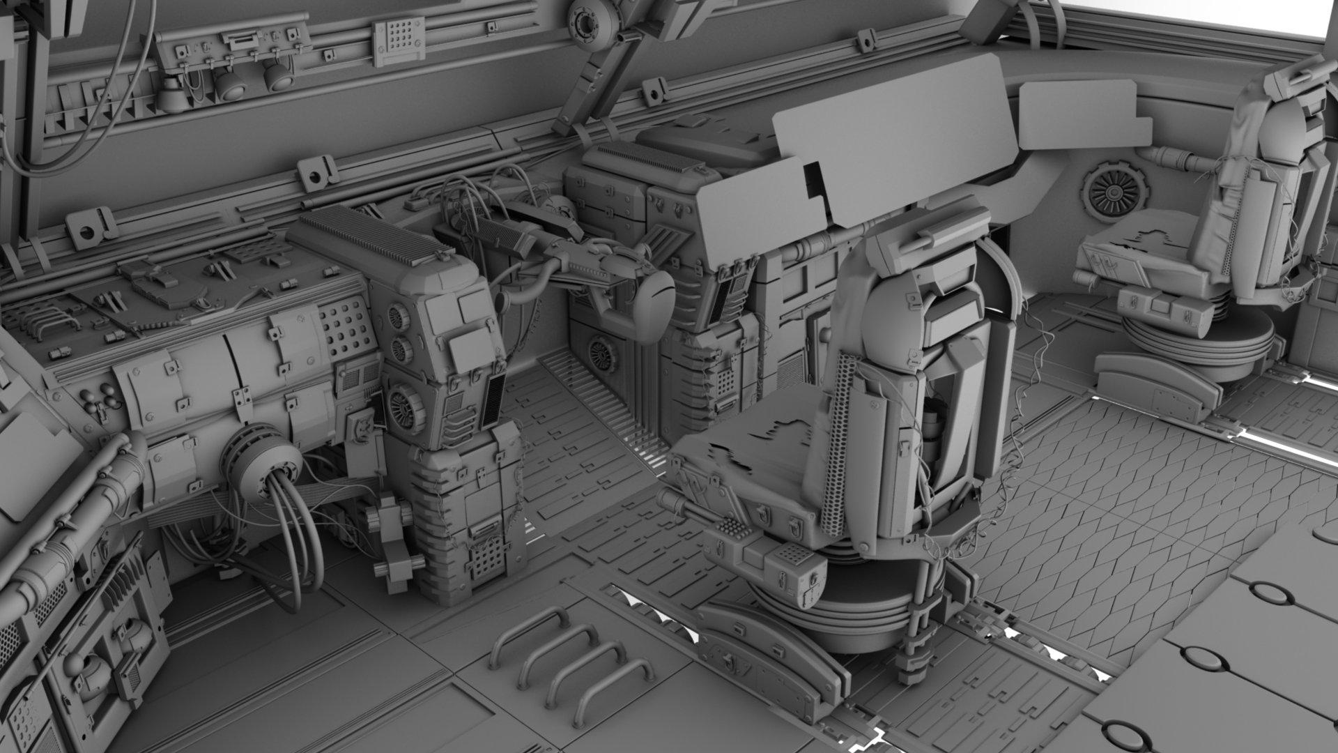 ArtStation - Dead Space Cockpit, Christen Smith