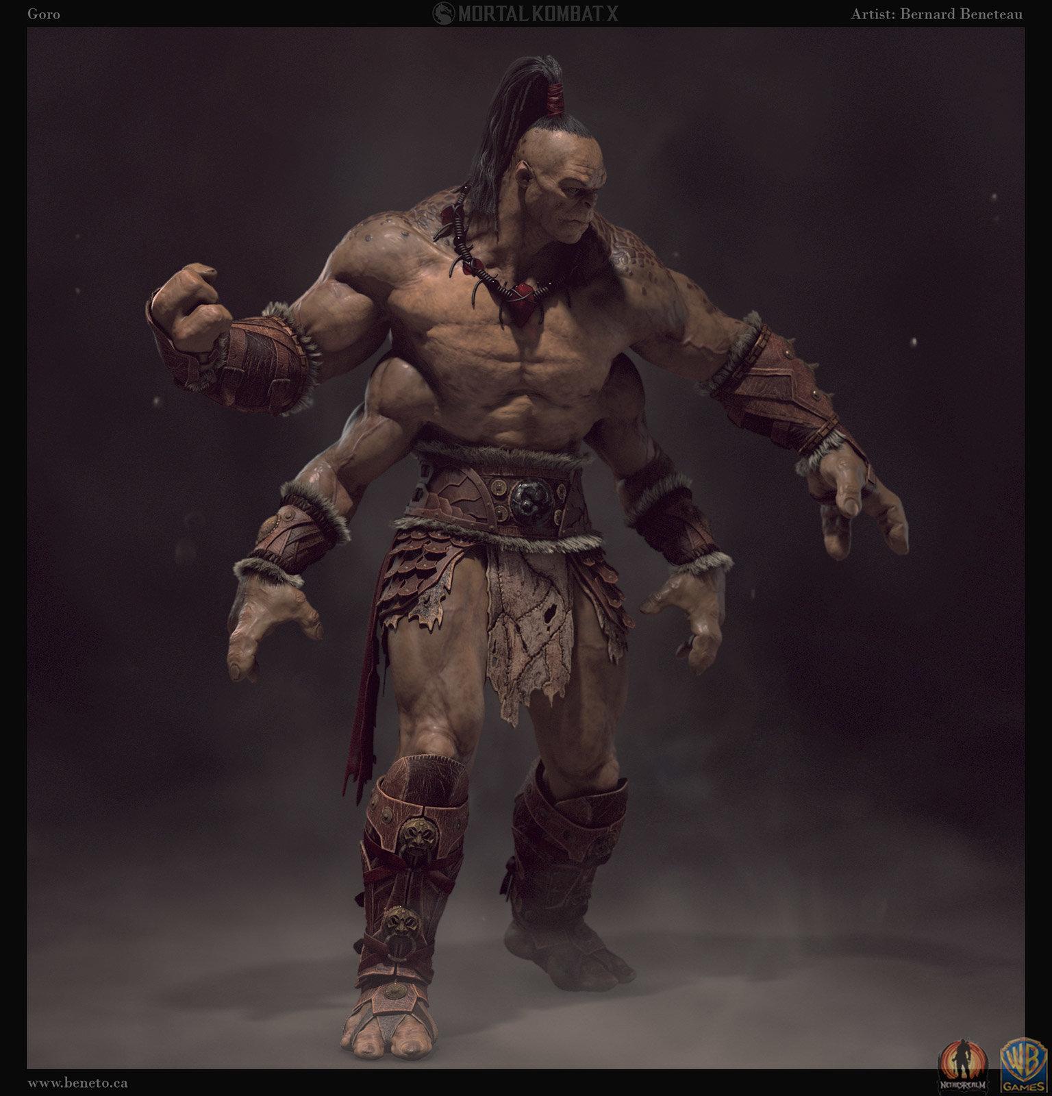 ArtStation - Mortal Kombat X - Goro, Bernard Beneteau