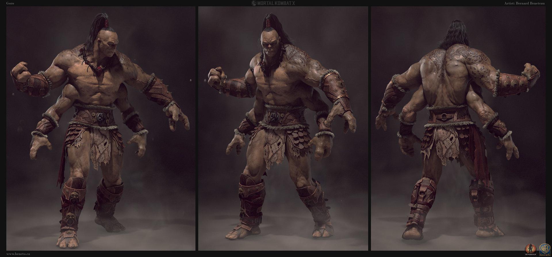 Artstation Mortal Kombat X Goro Comp Bernard Beneteau