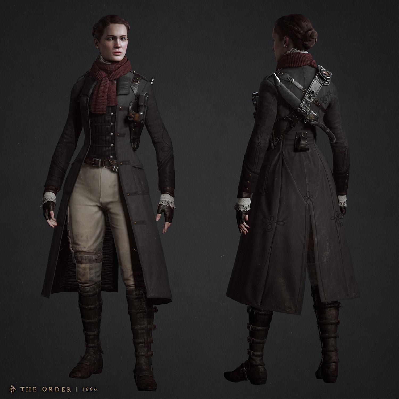 Character Design Job London : Artstation isabeau infiltration costume hisae jo watanabe