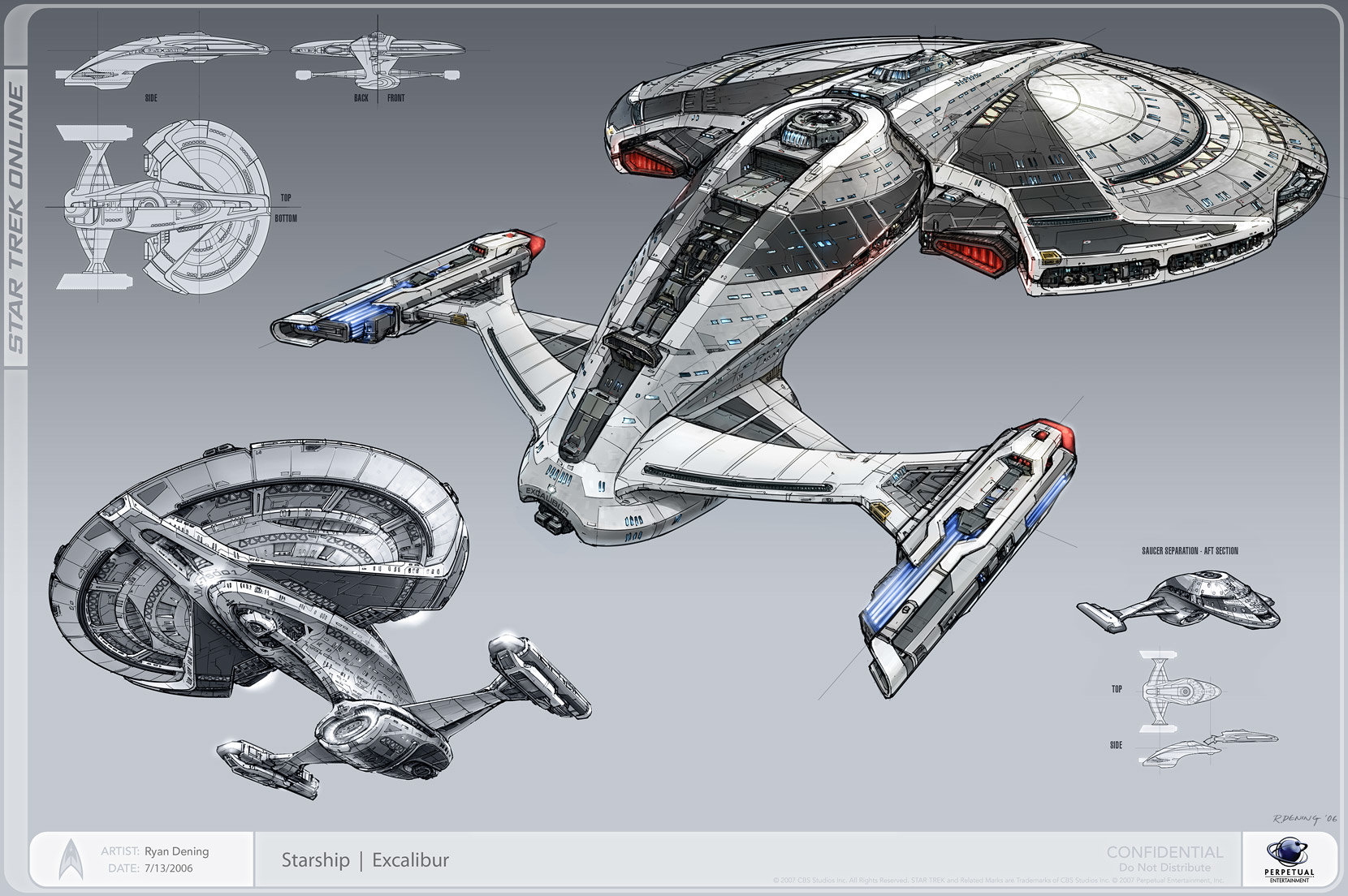 Artstation Excalibur Class Starship Ryan Dening