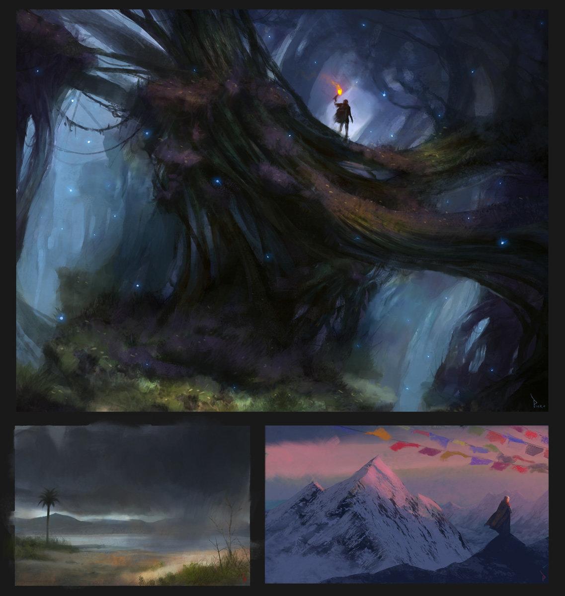 Piero macgowan enviro color sketches 3