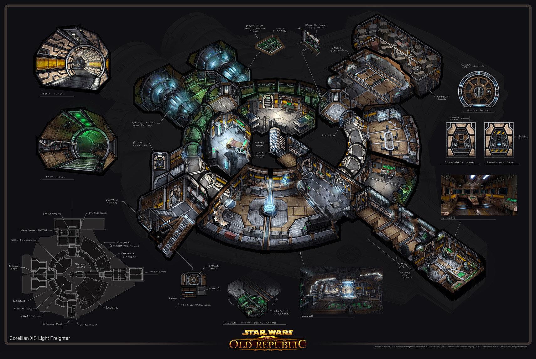 Star Wars Ship Floor Plans Part - 32: ArtStation