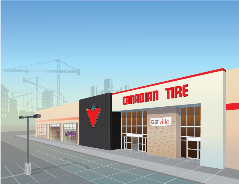 Jesse Burch - Canadian Tire Mobile game (2014) Art Director