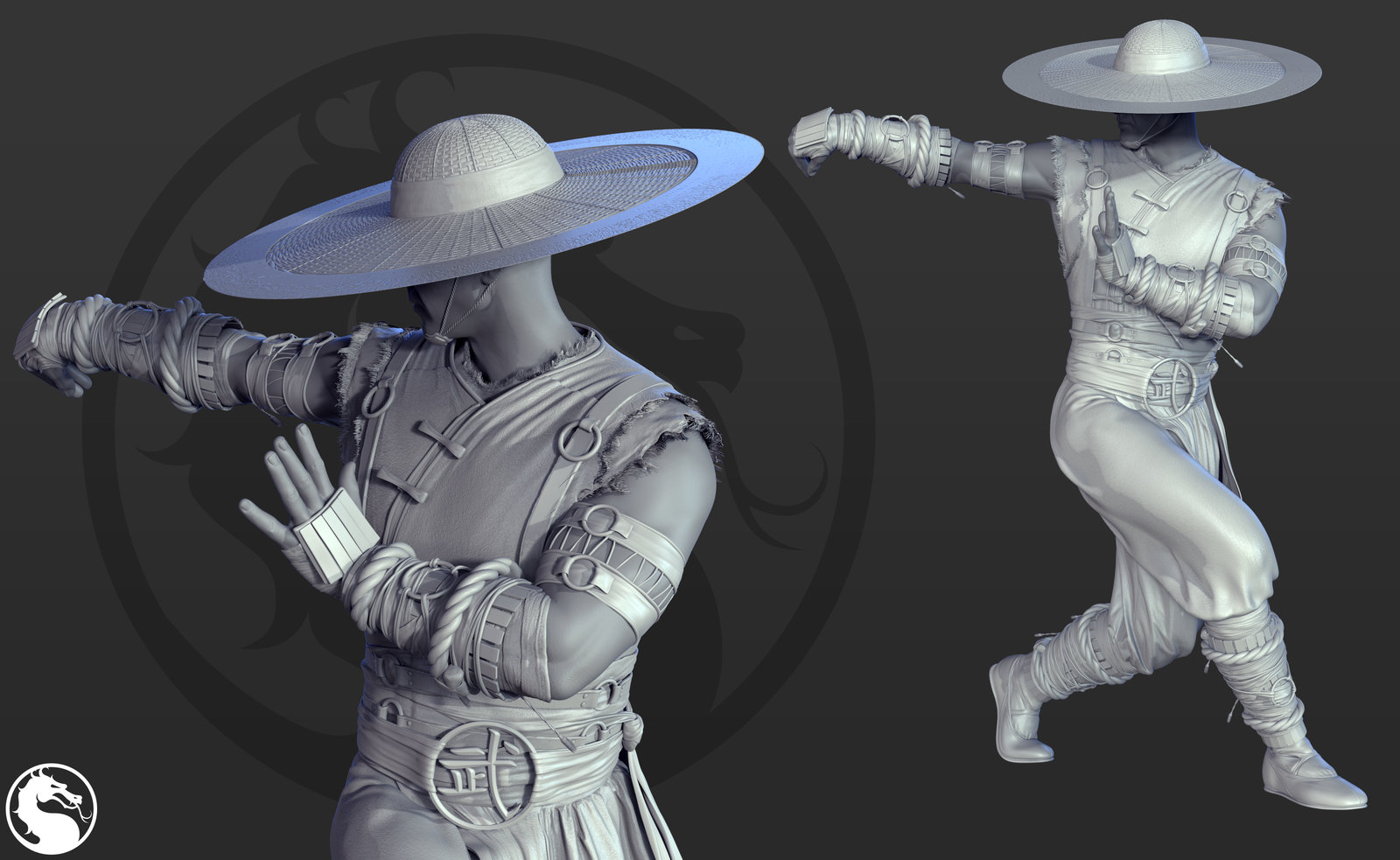 Kung Lao Costume B - I watched a lot of IP man when I was sculpting this guy.