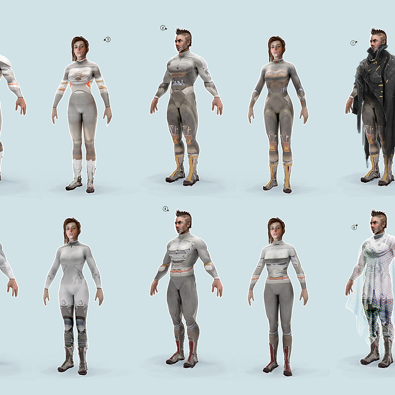 genesis project biosuit concepts