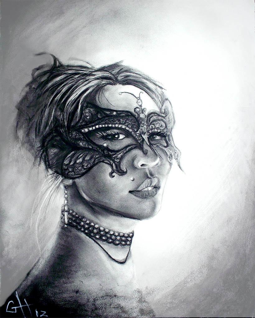 Grey hash vday masquerade