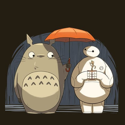 Andrew kwan baymax and totoro lo res
