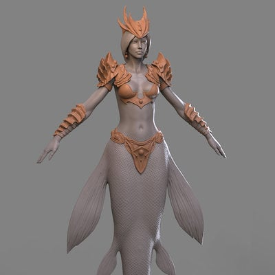 Chris bennett chrisbennett mermaid sculpt