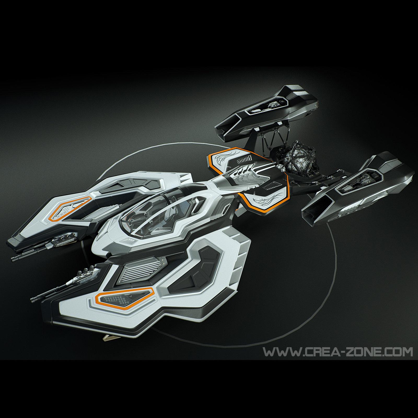 Spaceship 3D concept