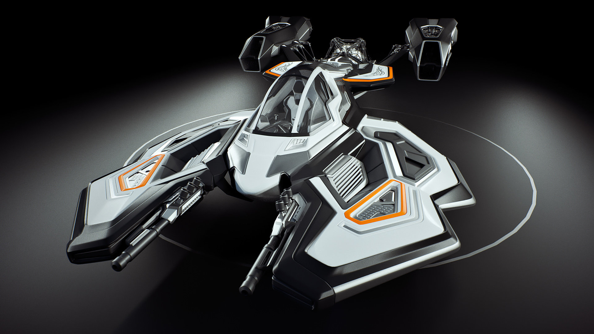 Johan de leenheer 3d spaceship faucer fuga mx230e 11