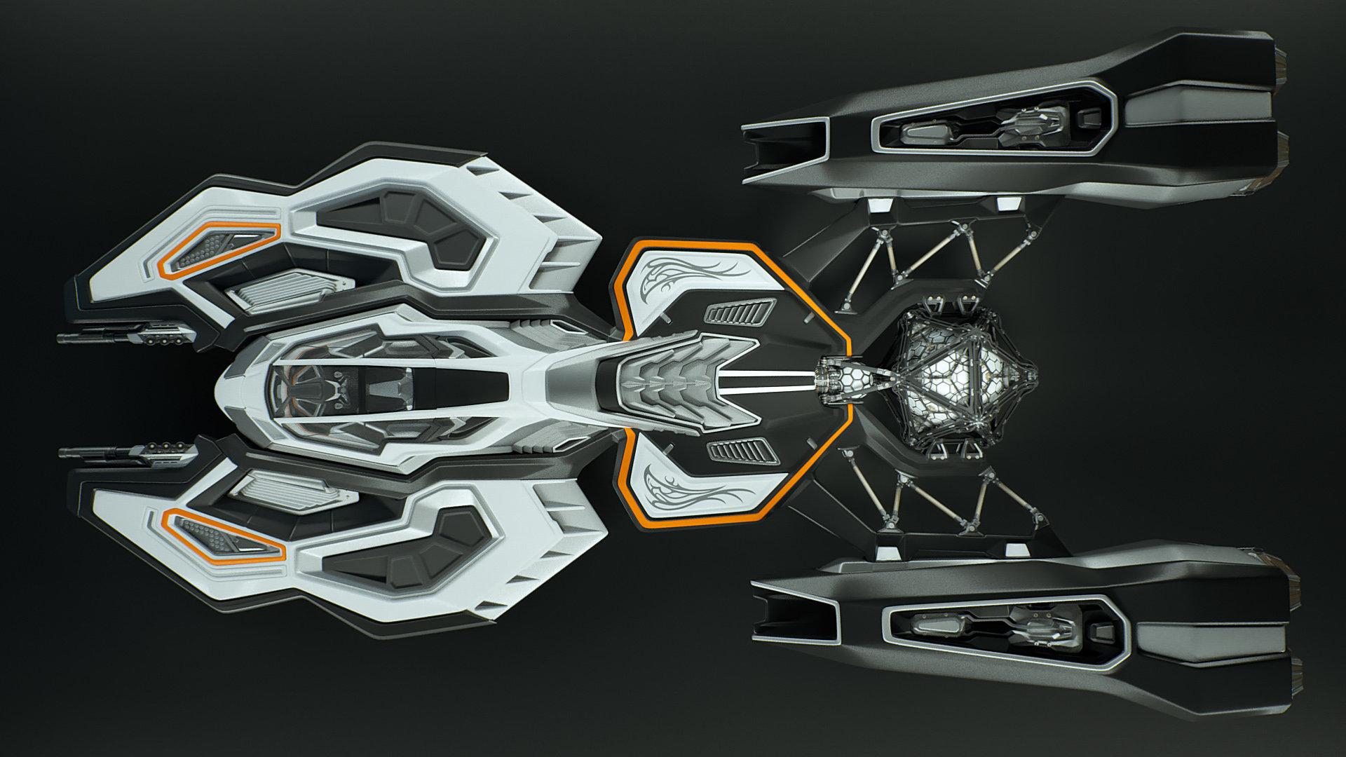Johan de leenheer 3d spaceship faucer fuga mx230e 01