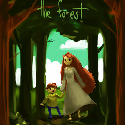 Caity hall the forest poster