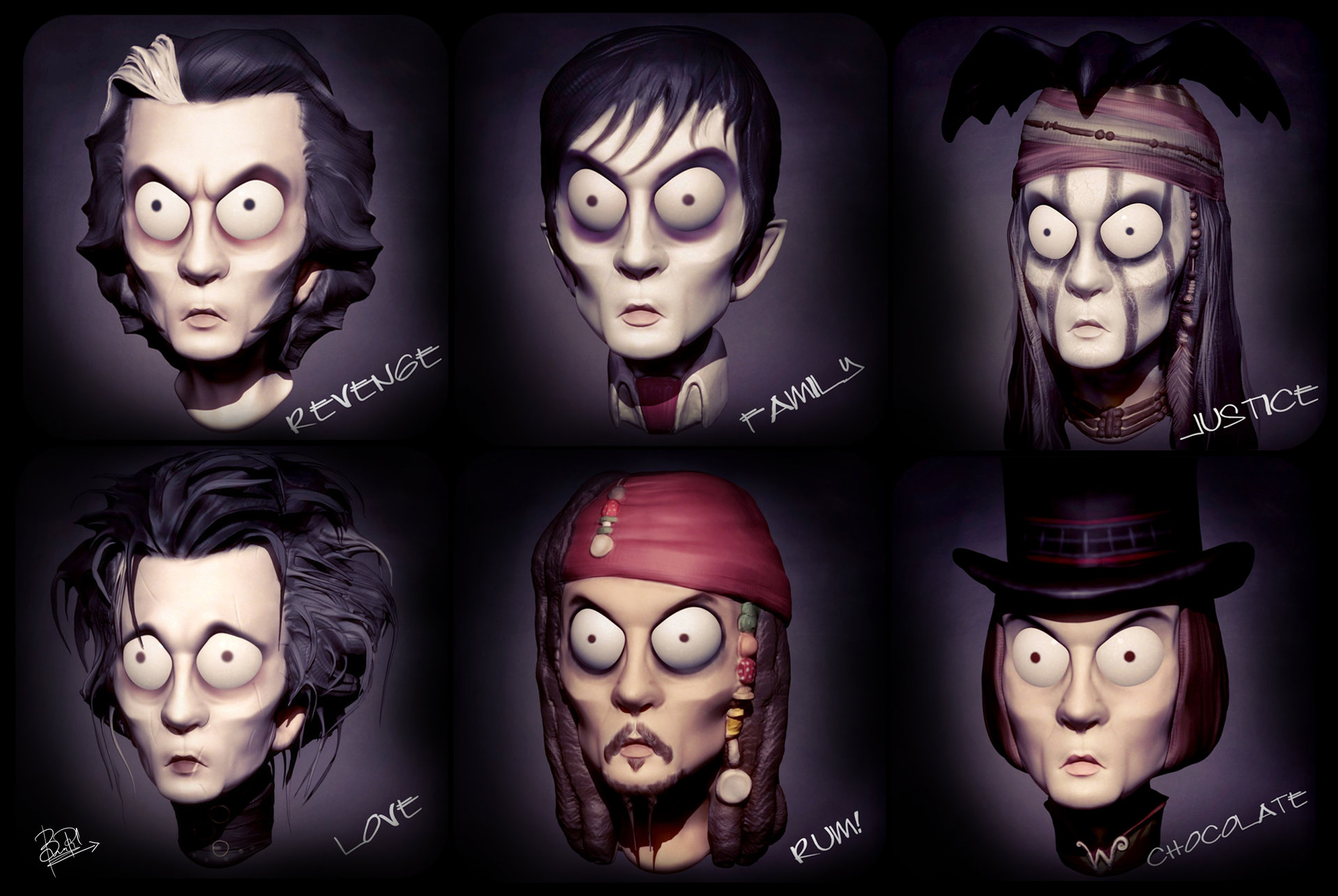 Bhavesh Panchal Johnny Depp Characters