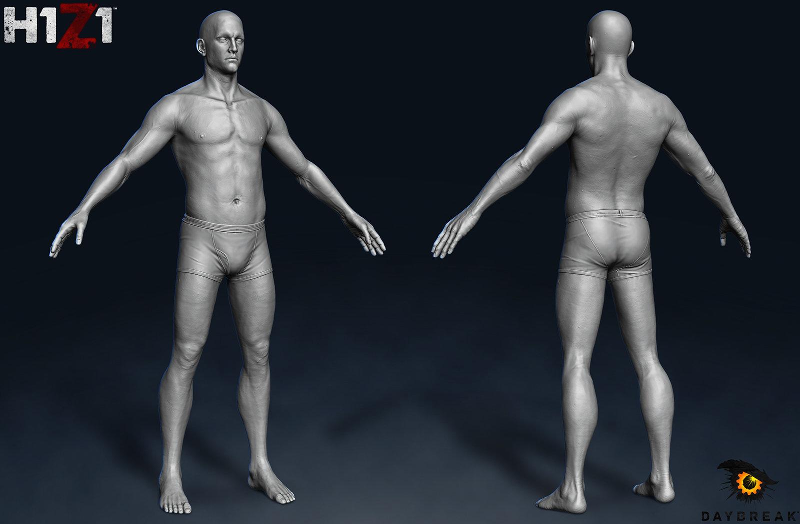 H1Z1 Human Male Sculpt