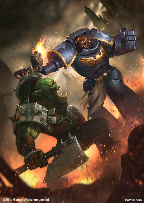 Games Workshop - Space Marine vs Ork