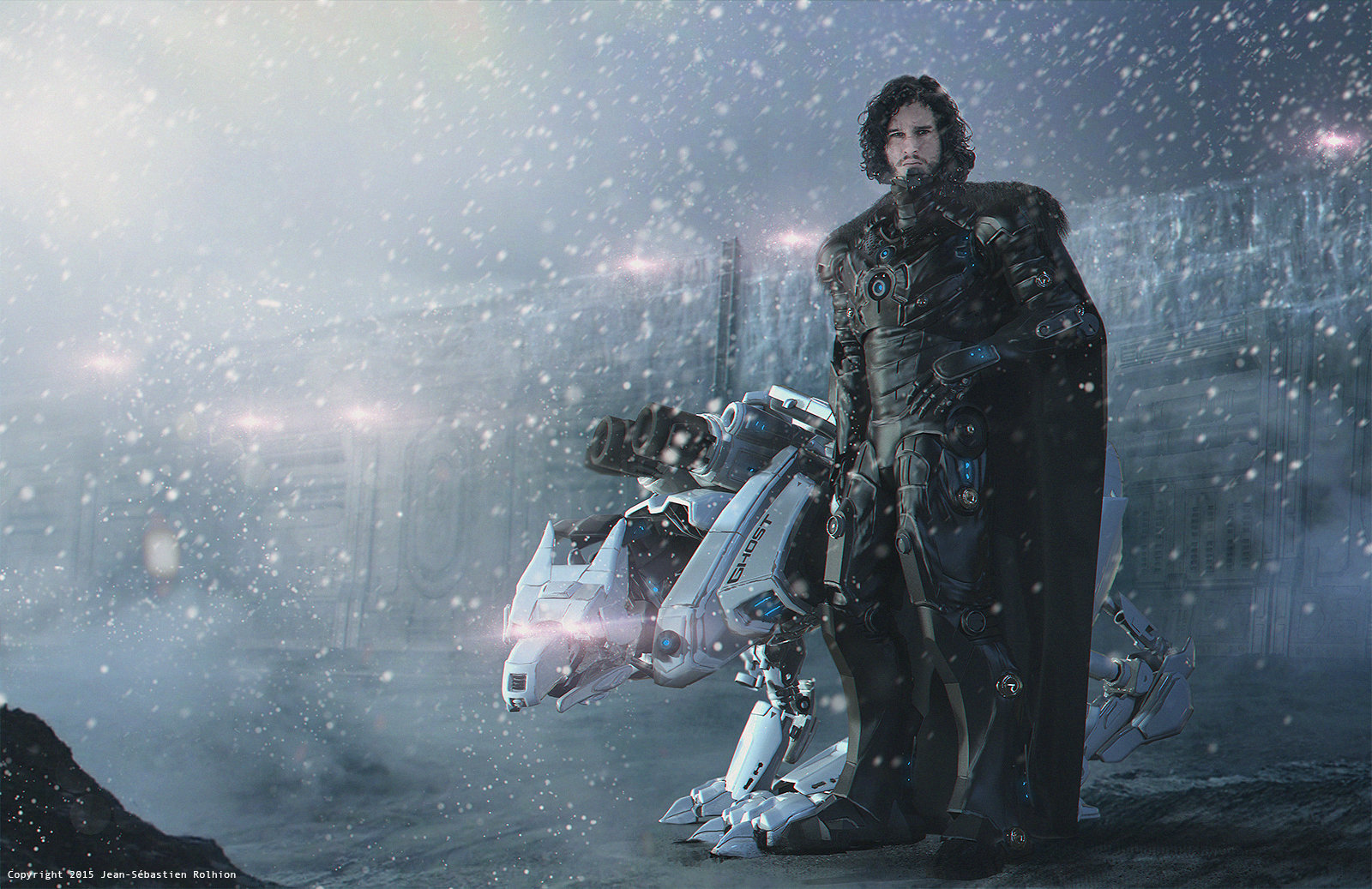 Jon Snow and his pet robot