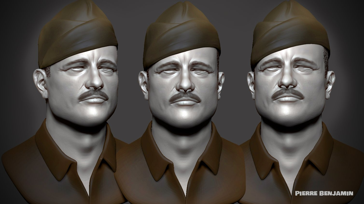 Brad Pitt Sculpt Zbrush WIP