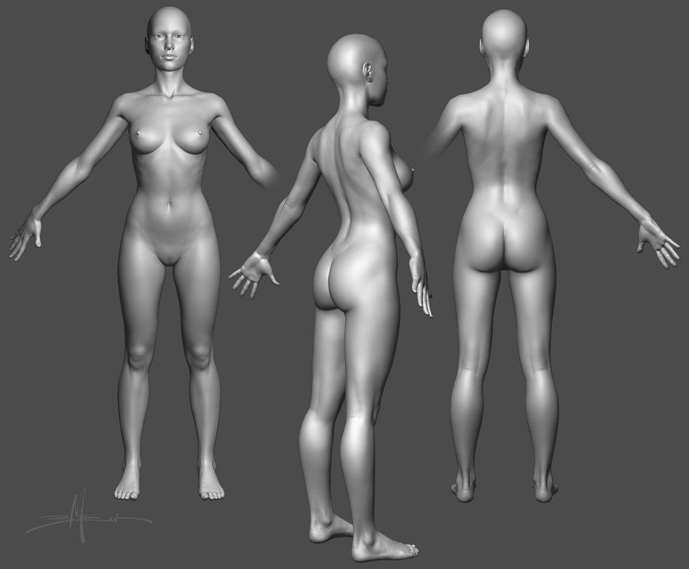 ArtStation - Female Anatomy - ZBrush Sculpt, Bill Melvin