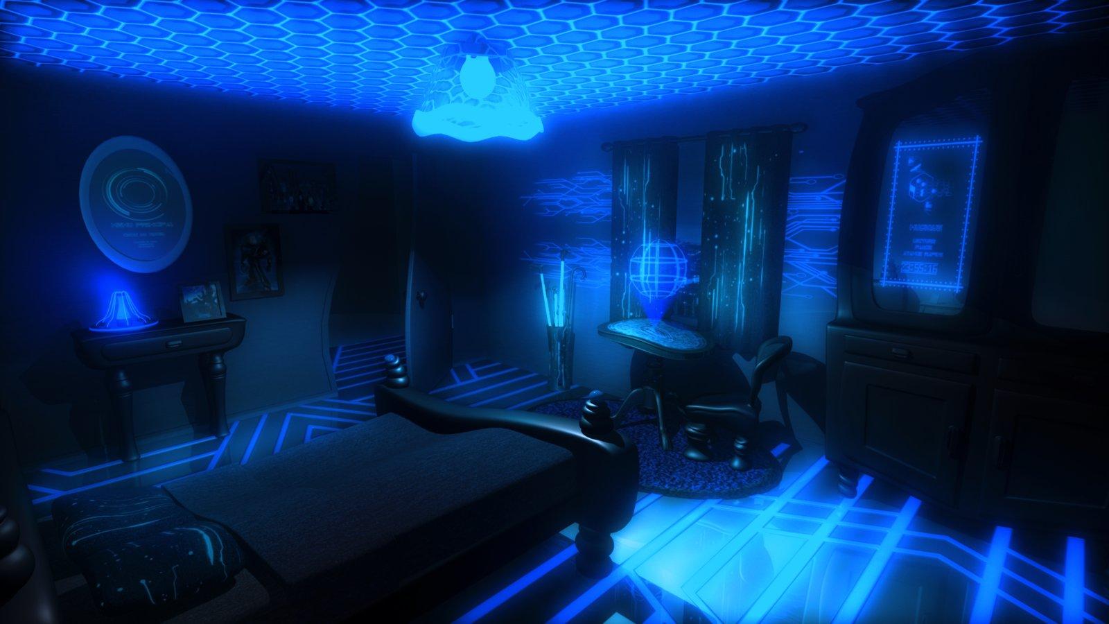 Futurist cartoon room