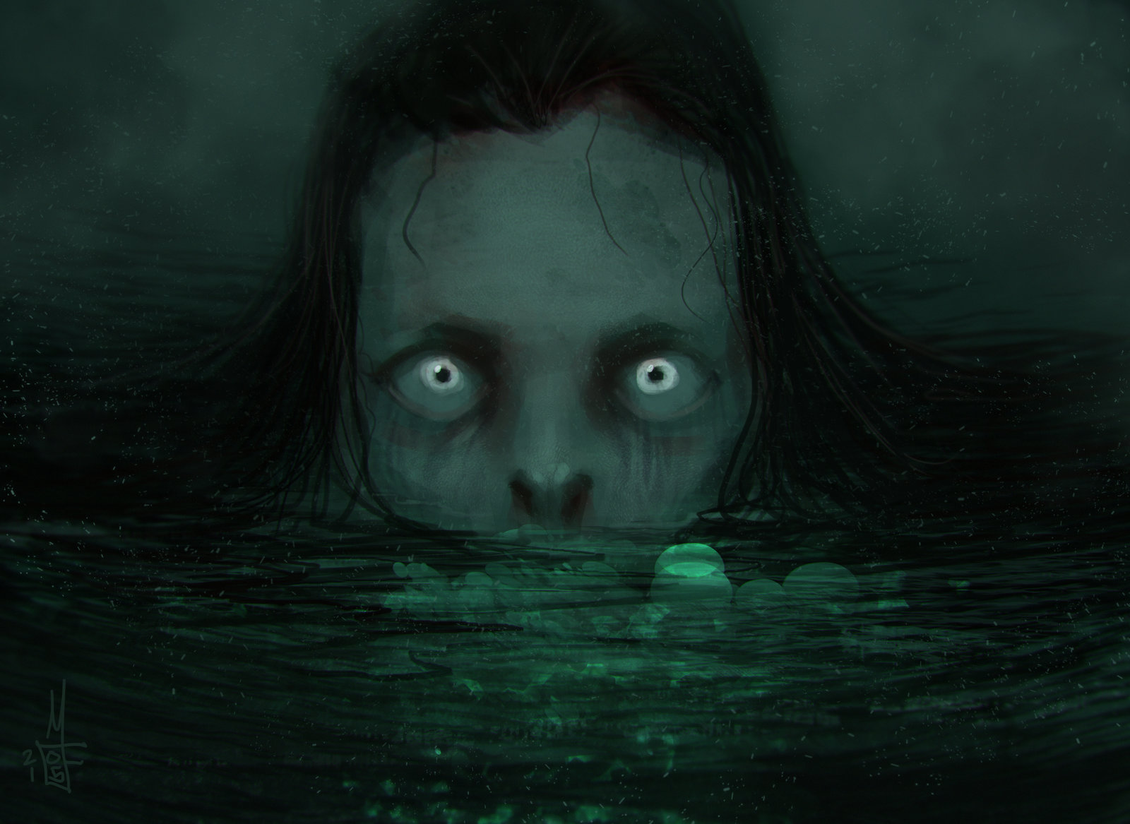 Daily Spitpainting: Lady in the Lake