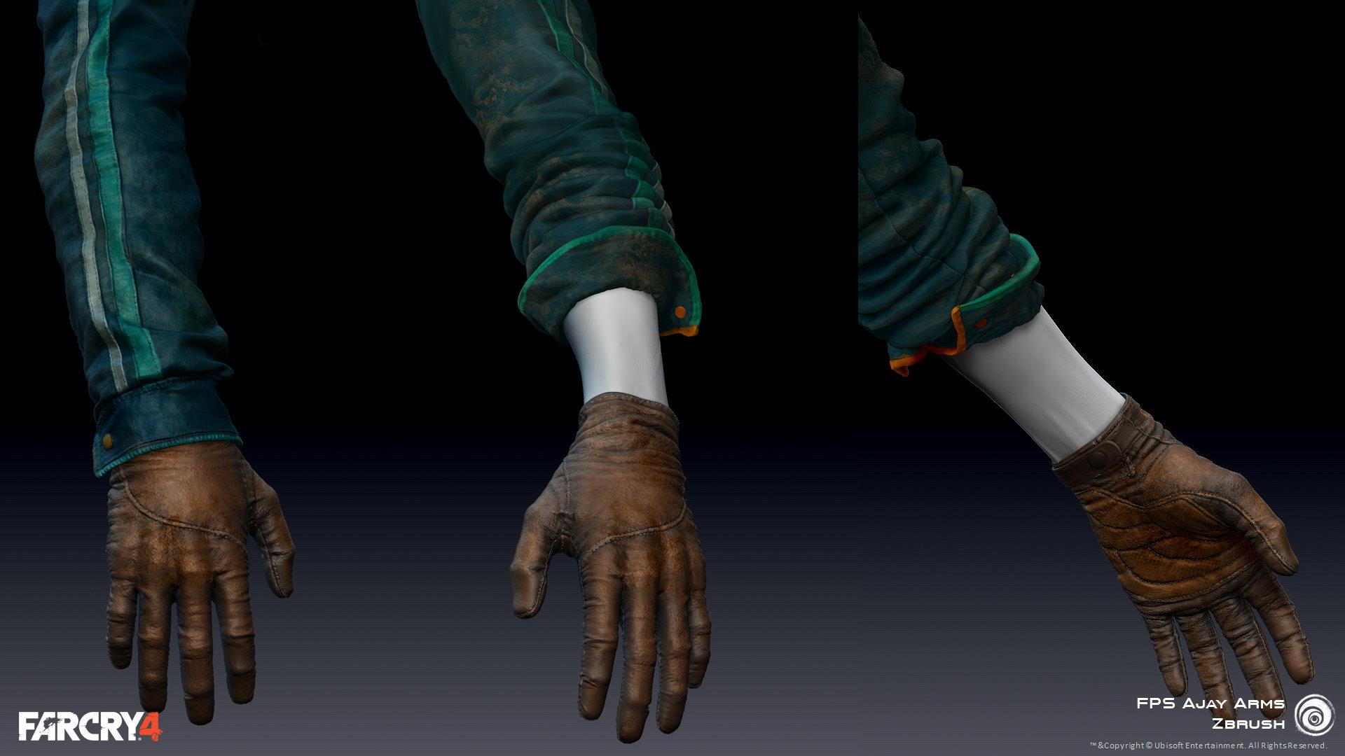 Zbrush Polypaint/texture| FPS Hands