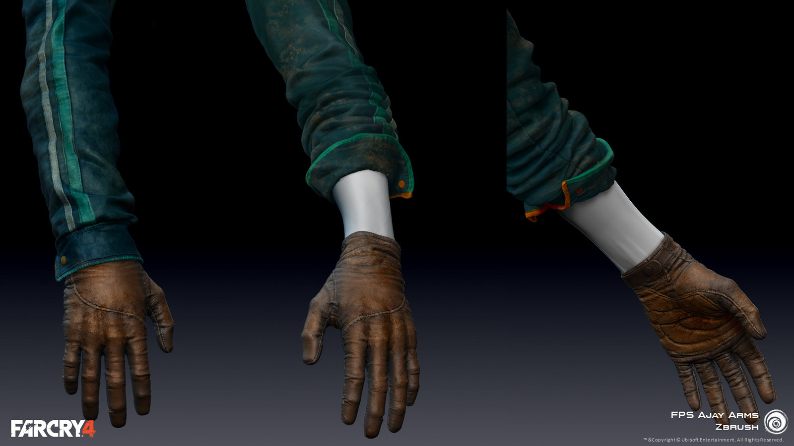 Zbrush Polypaint/texture| FPS Hands