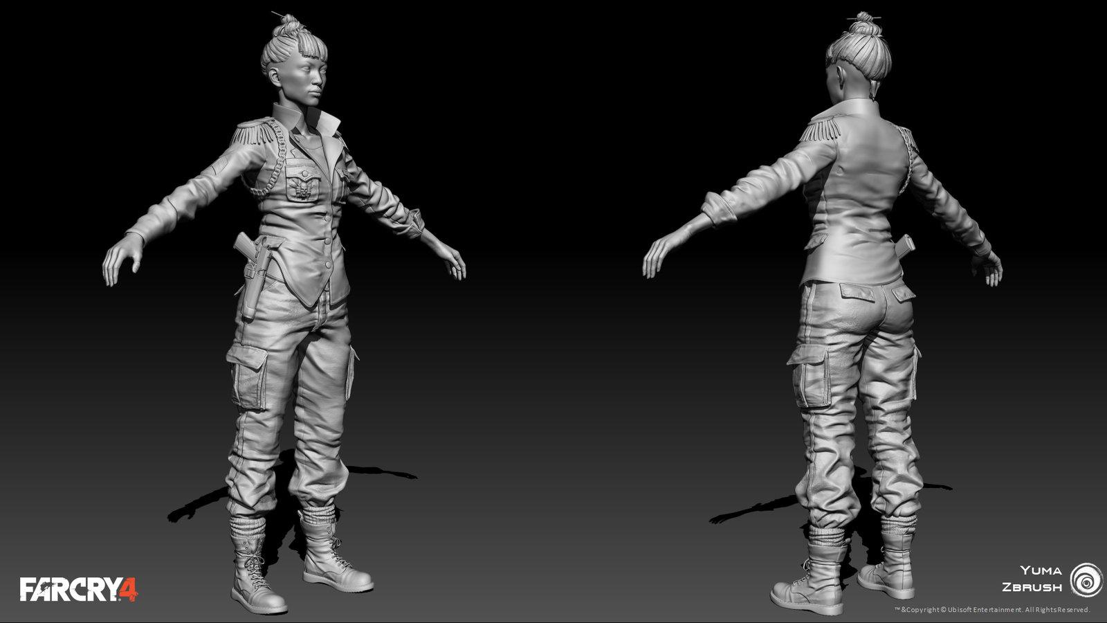 Zbrush Body Model *Head by Mager Kamel Aquino