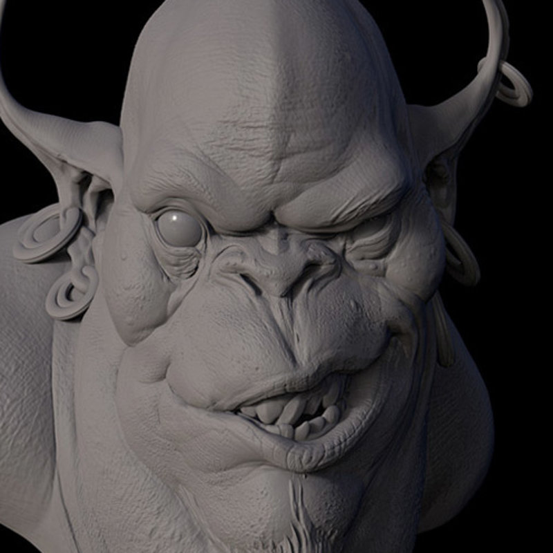 Djinn Sculpture for MOLD 3d Workshop