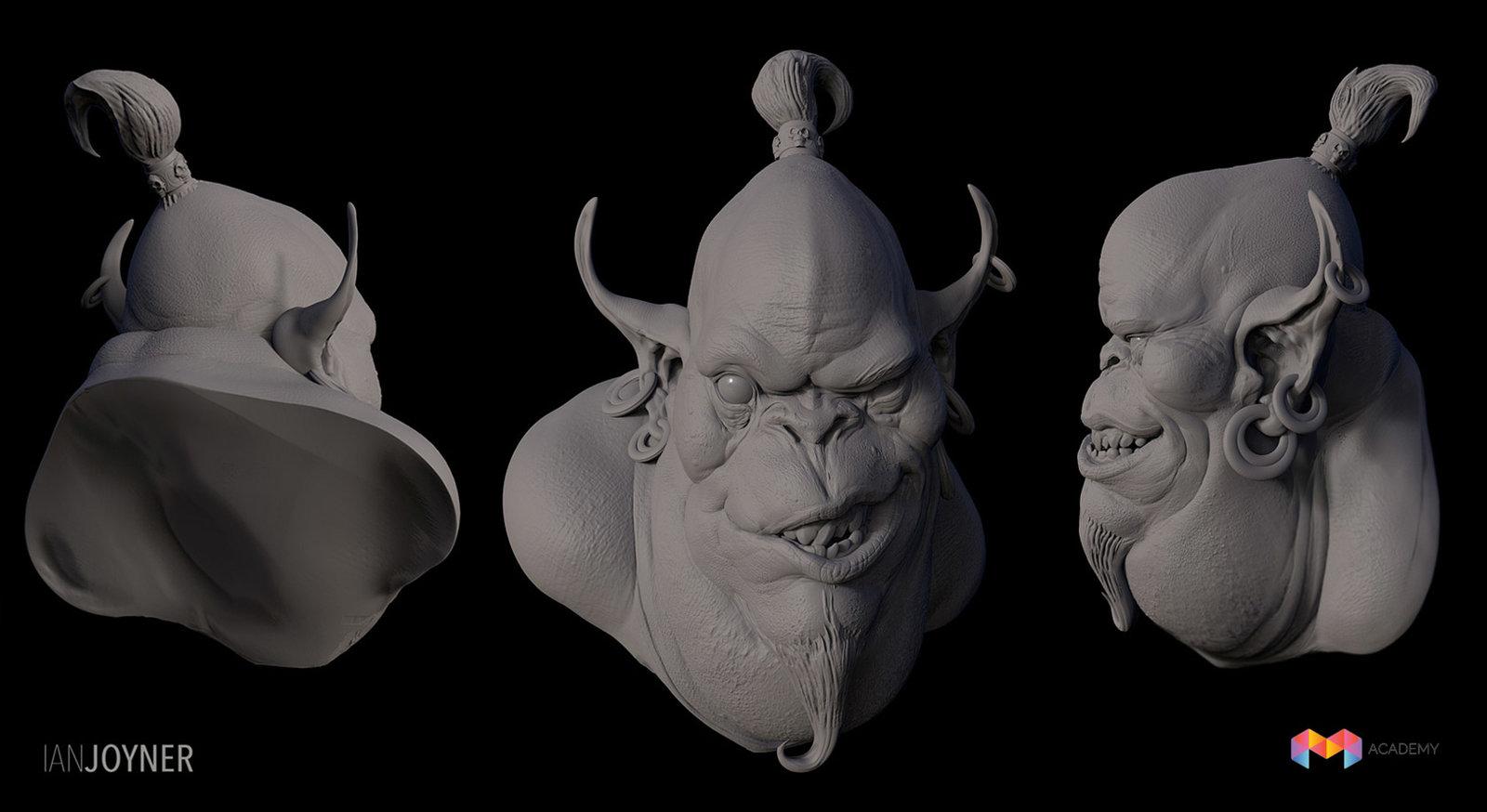 Djinn Sculpture for MOLD 3d Workshop