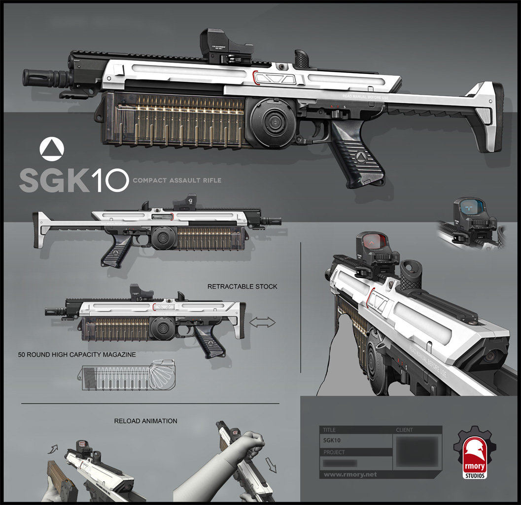 SGK10 Compact Assault Rifle - rmory studios