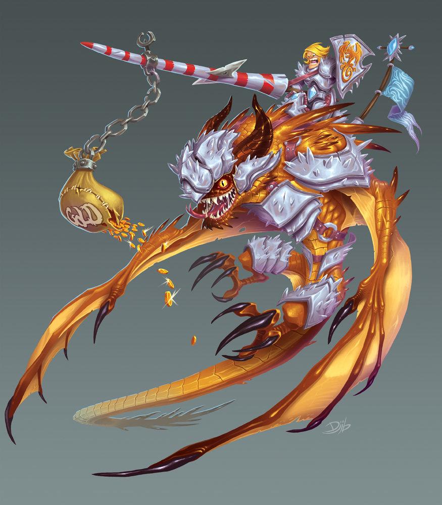 Jean baptiste djib reynaud funforge titan race paladin dragon couleurs comm01