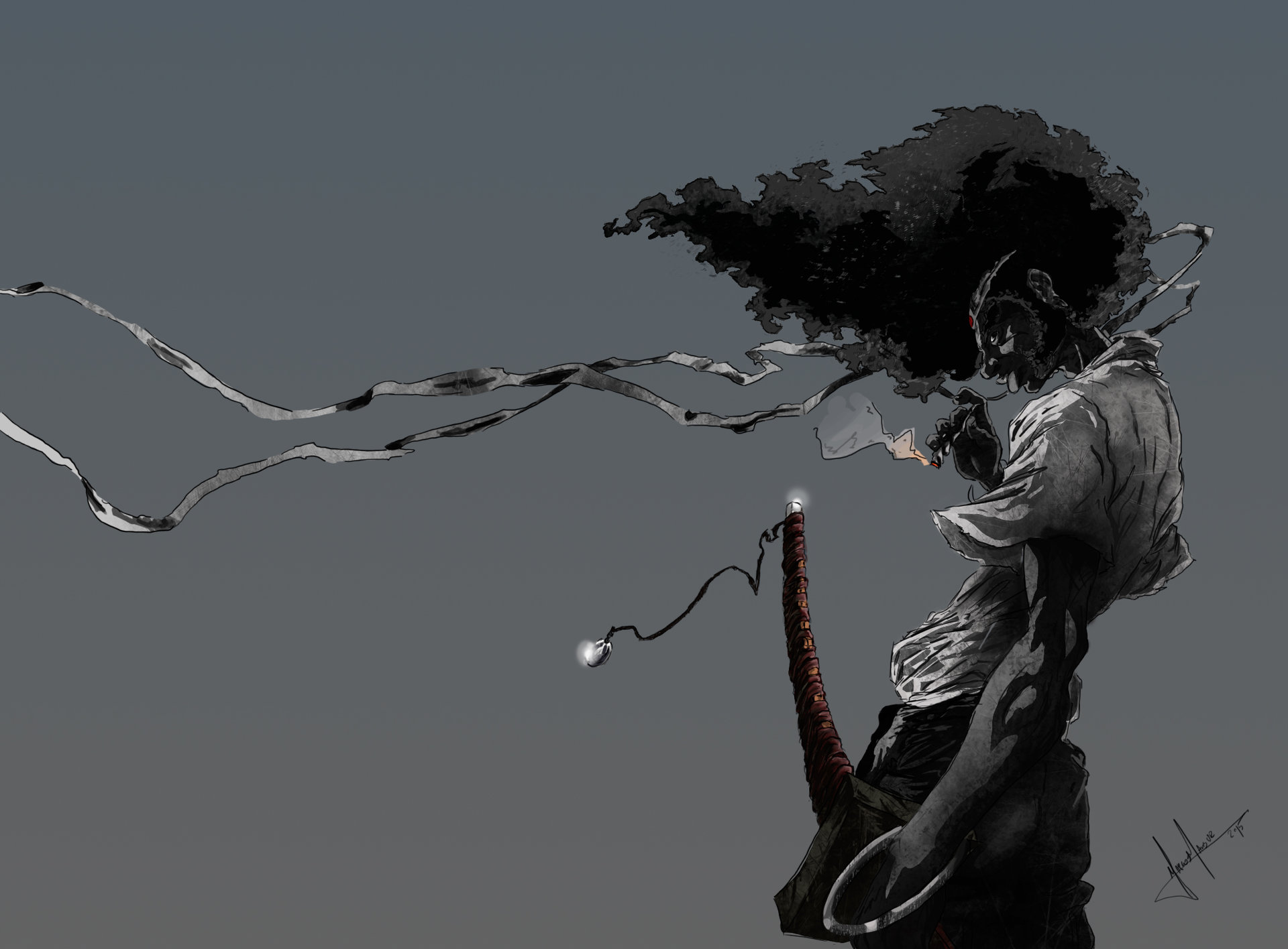 Marcos mansur afrosamurai art