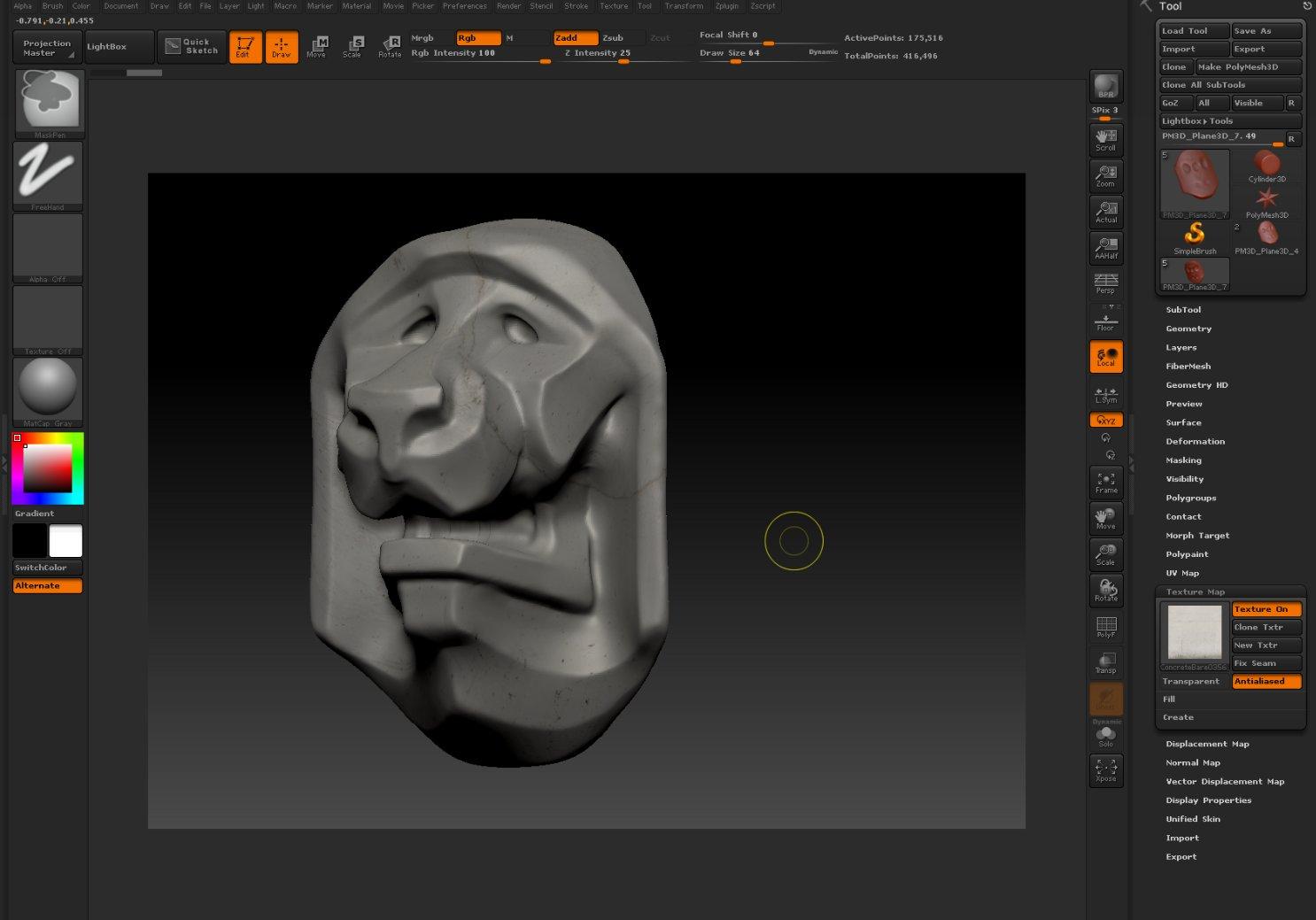 Viewport Capture #2 - Lion head Sculpt