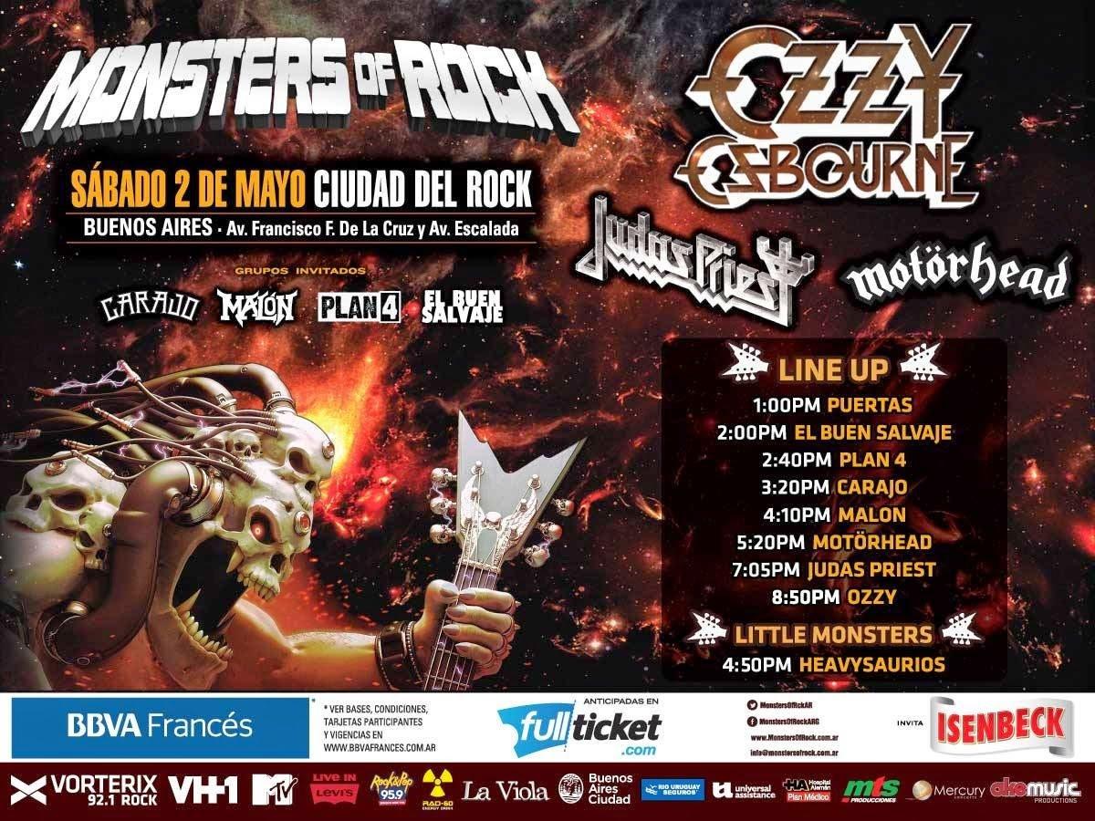 Mark van haitsma monsters argentina 2015 horarios