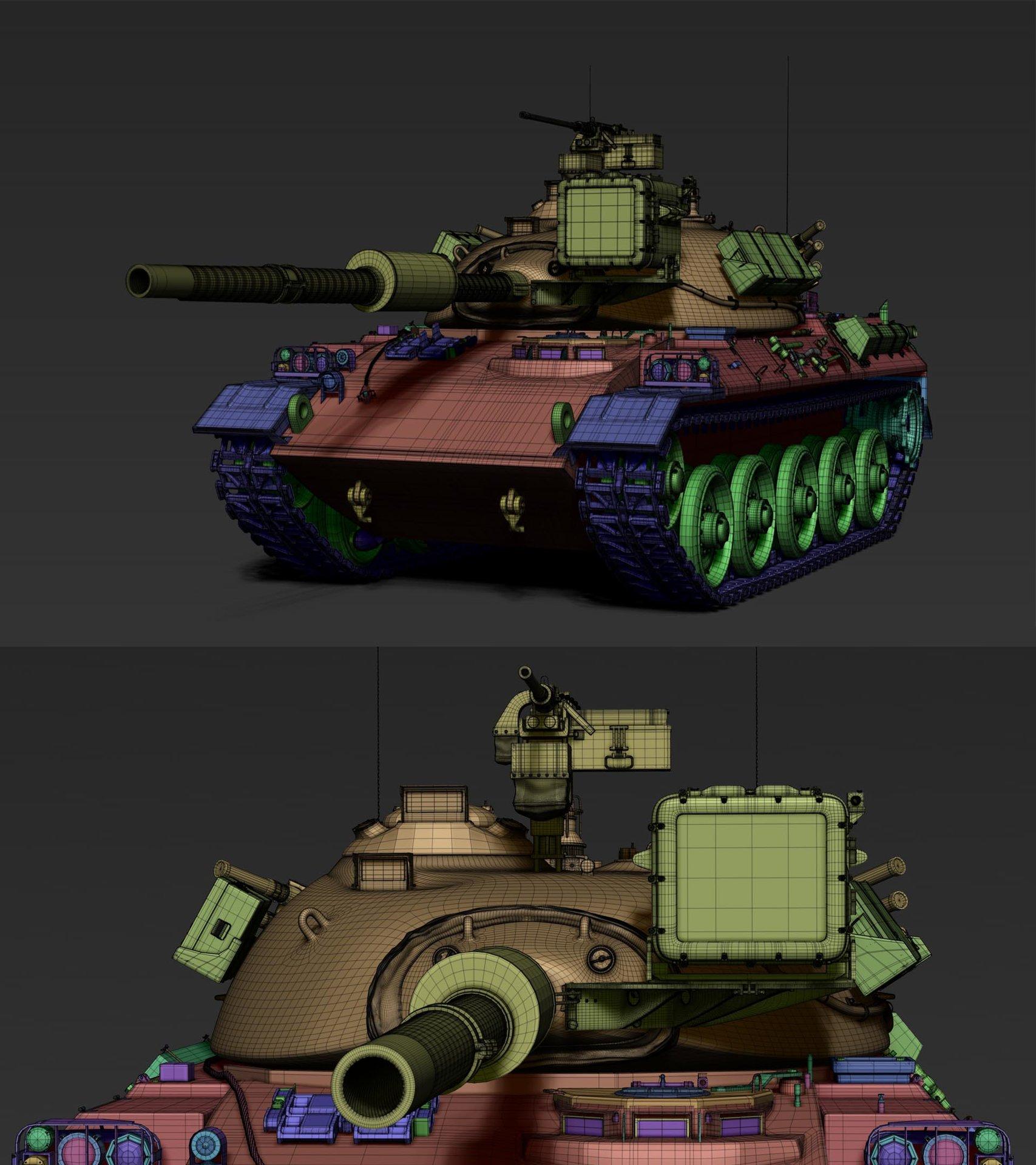 Frank dzidowski type 74 zbrush v001