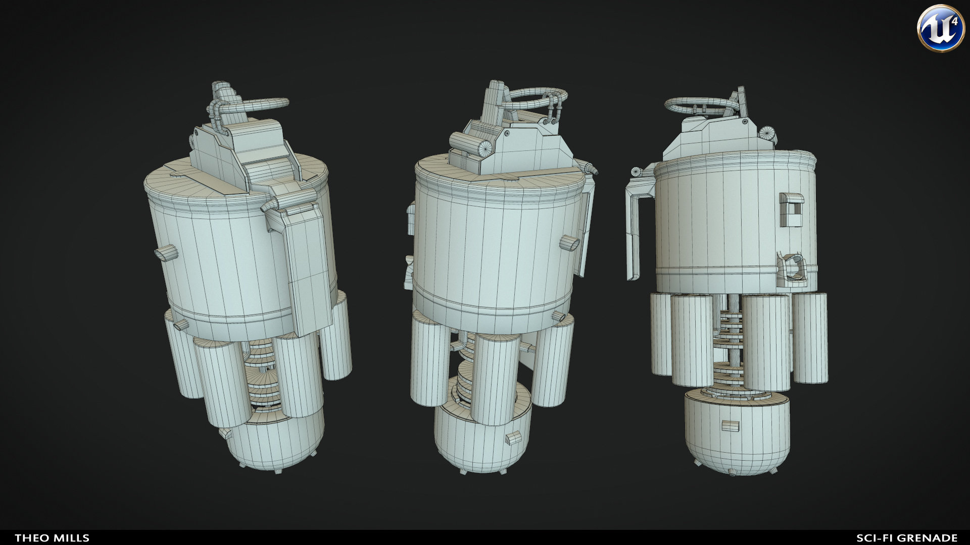 ArtStation - Sci-Fi Grenade, Theo Mills