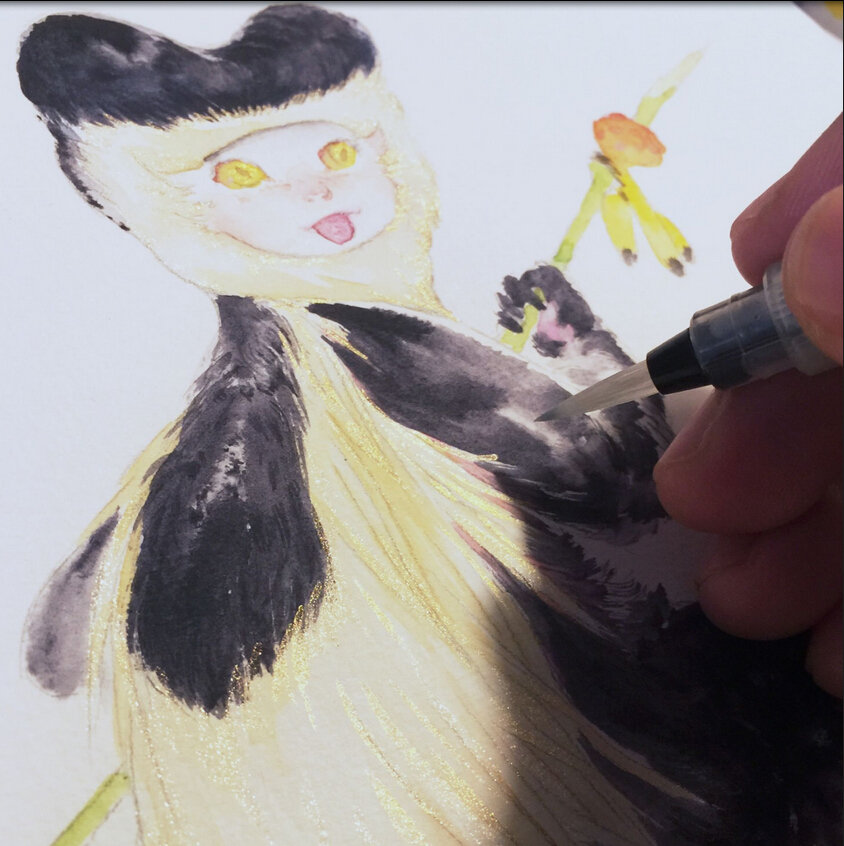 monkey girl in nino vally
