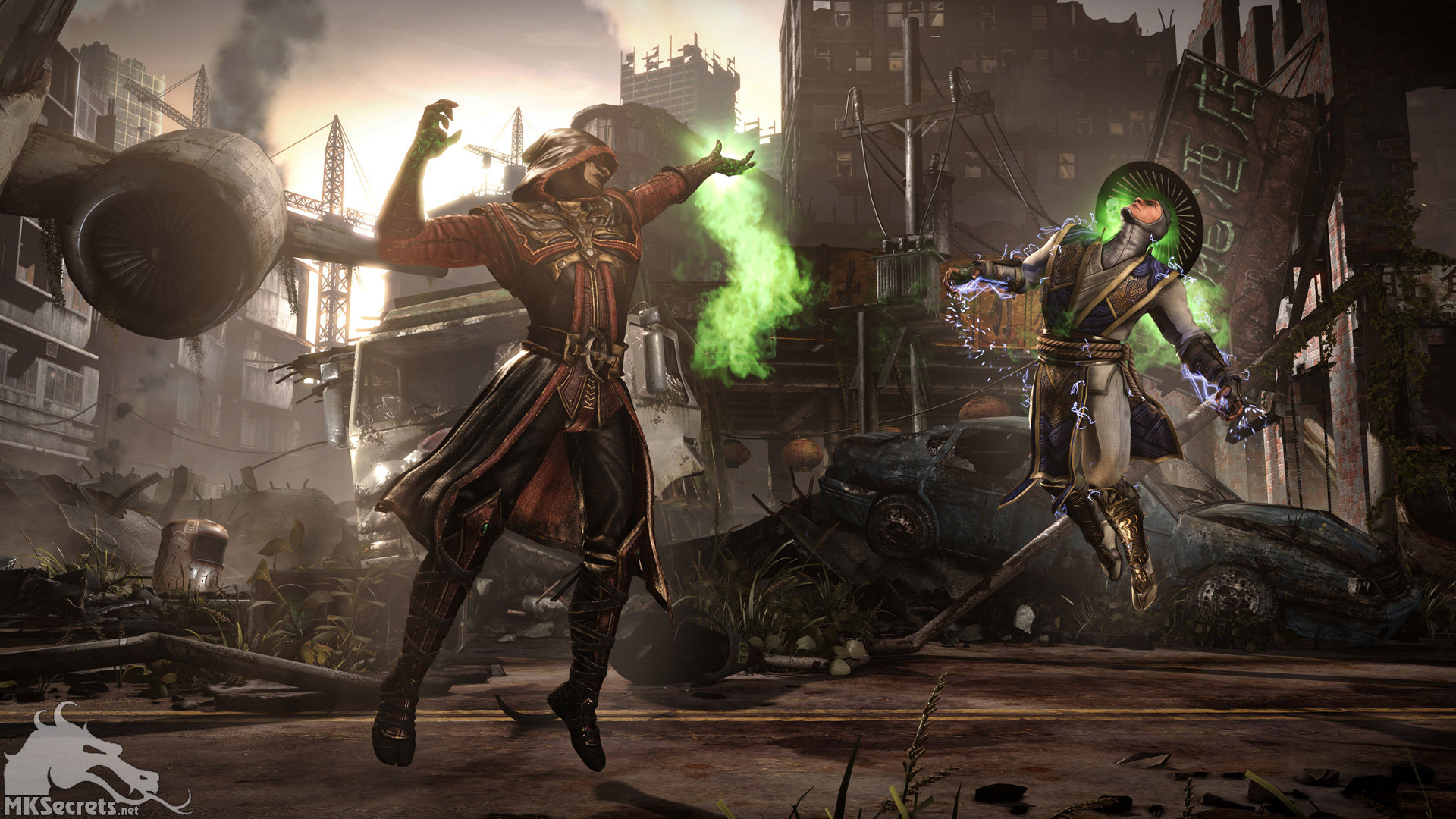 Johnson ting mortal kombat x ermac vs raiden destroyed city