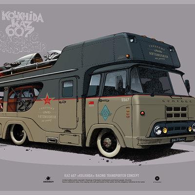 Andrey tkachenko kolkhida racing transport print