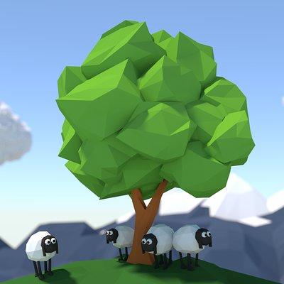 Raz freedman sheep on a hill