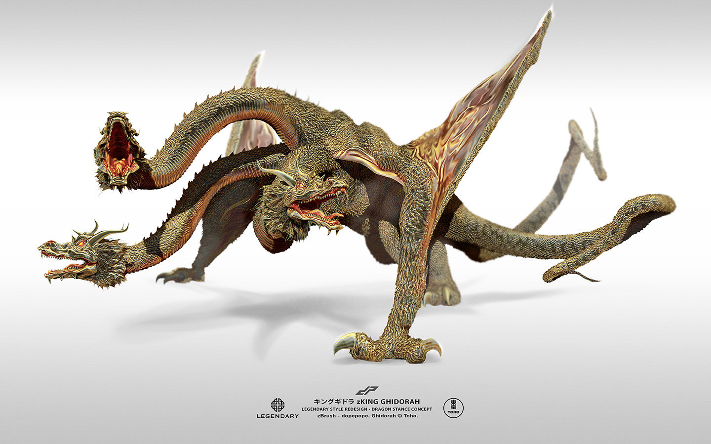 Dope pope zghidorah dragon stance by dopepope
