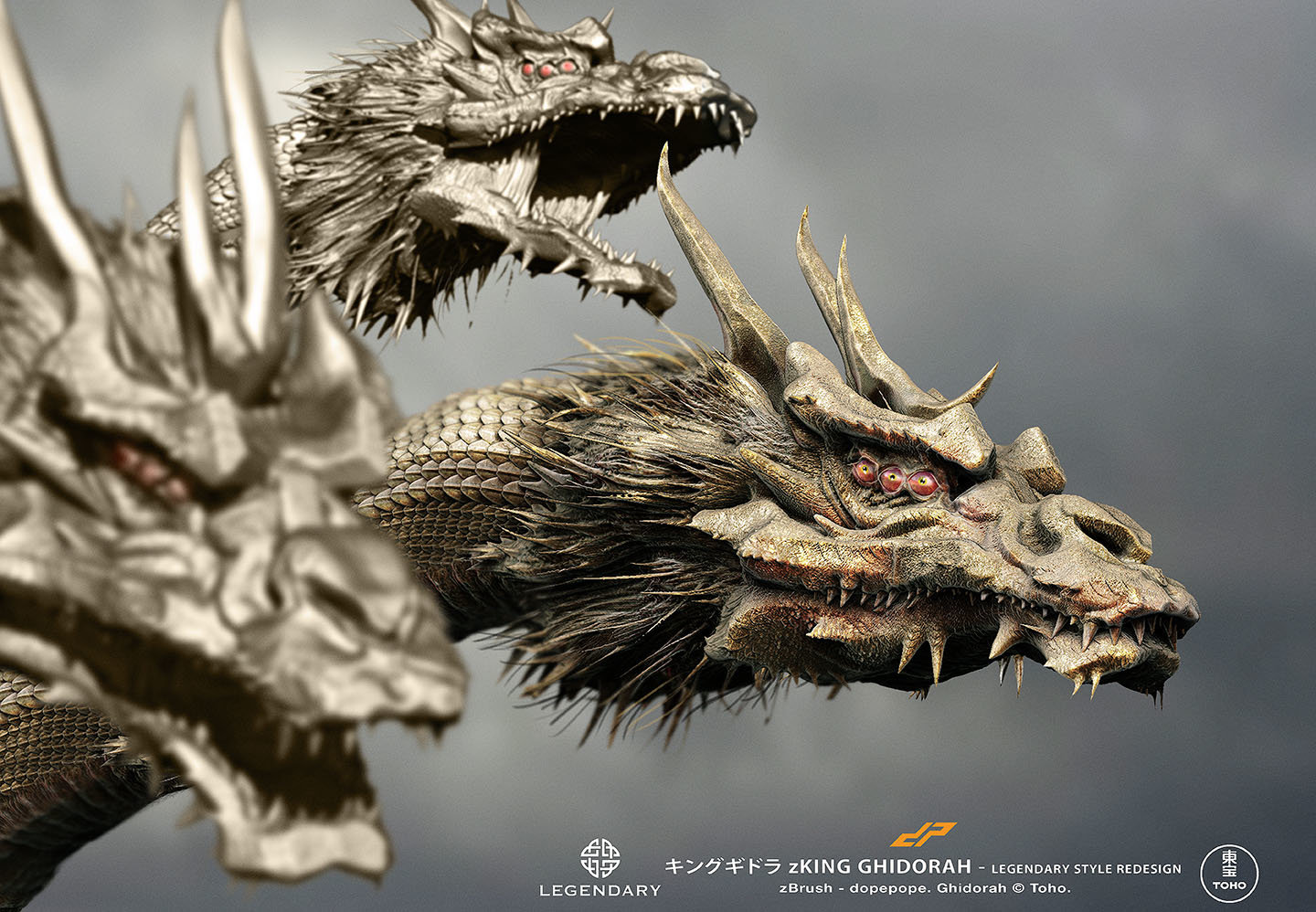 Dope pope zghidorah legendary by dopepope