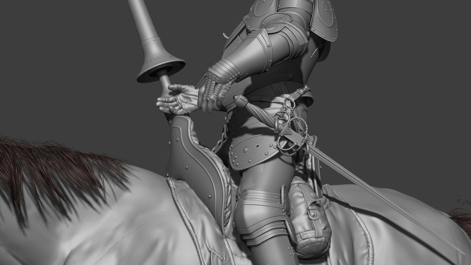 The old knight(detail)/ wip