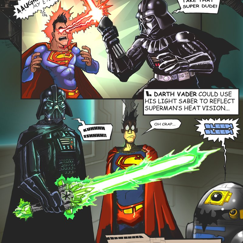 9 Ways Darth Vader Could Kick Superman's Butt