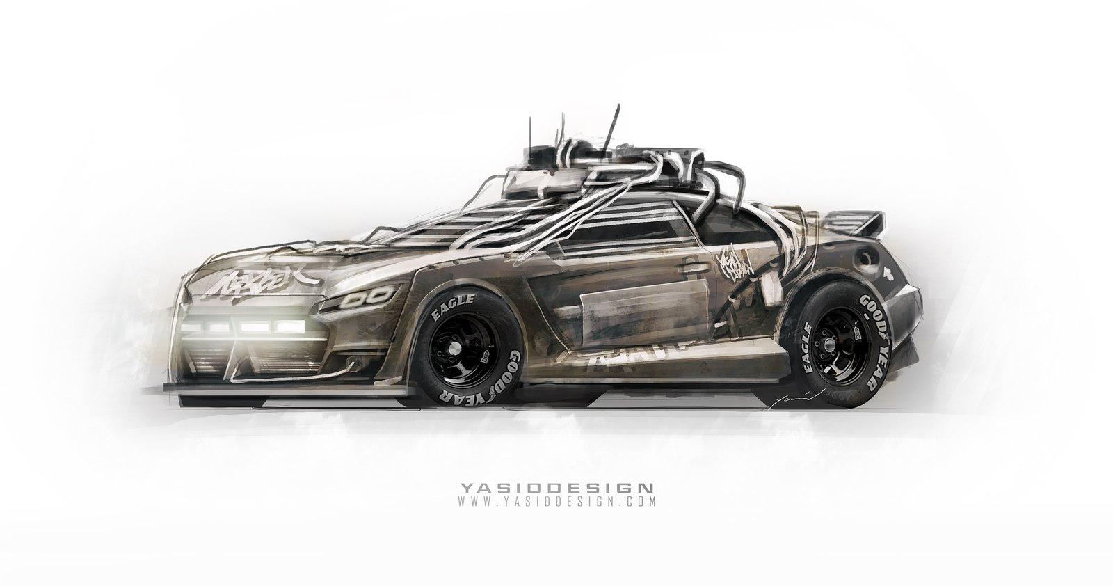 Random elysium inspired car