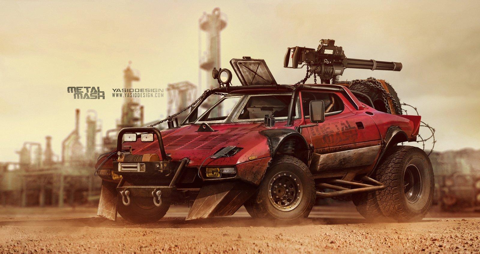 Lancia Stratos _ Metal Mash