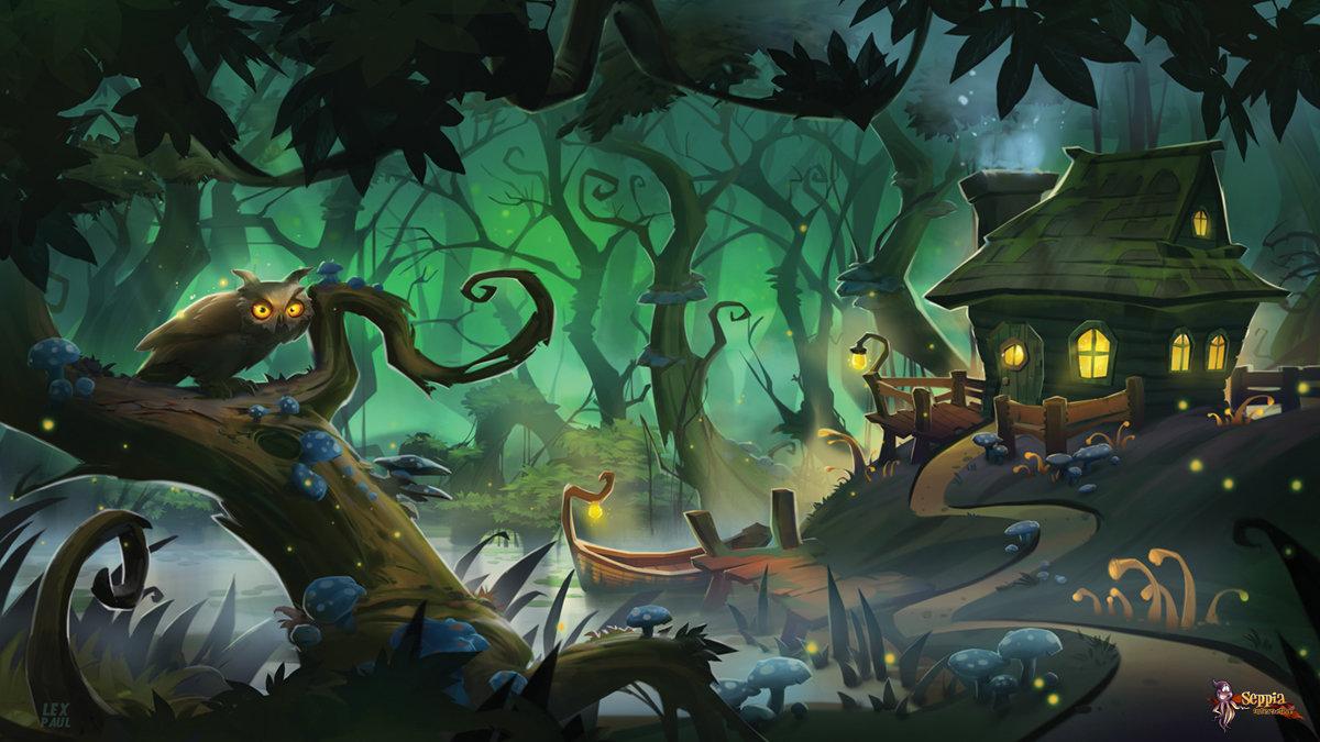 Artstation Magic Swamp Alexandrescu Paul V
