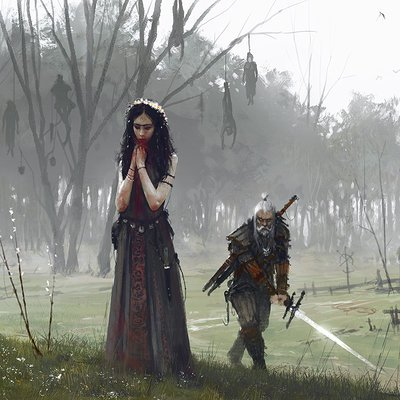 Jakub rozalski another day at work just watch the flowers