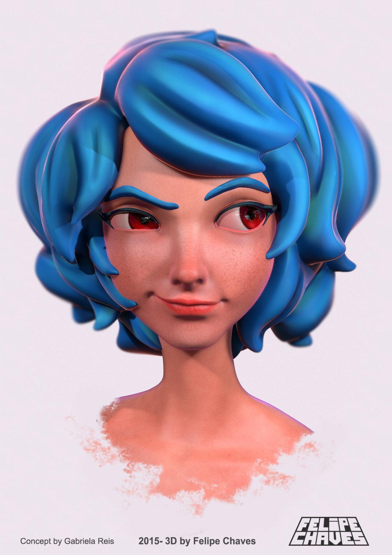 Jenny - Blue Hair Girl